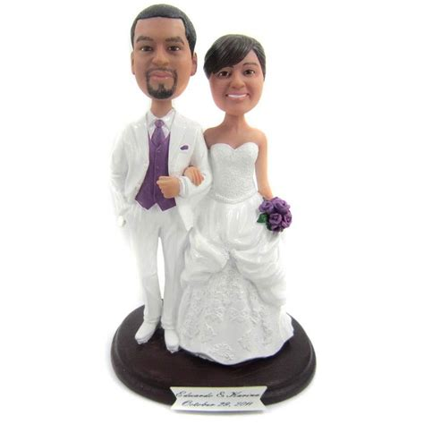 Handmade And Groom Cake Toppers - classic and groom wedding cake toppers