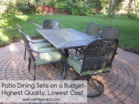 high patio dining sets where to buy low cost quality patio furniture and dining
