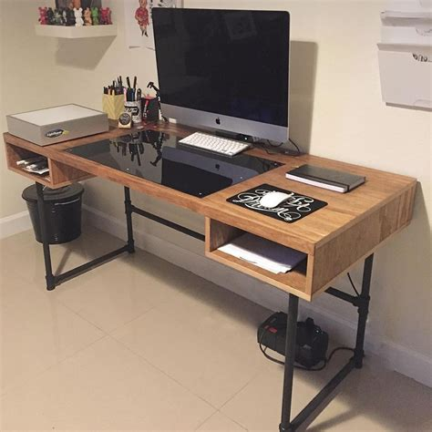 Computer In Desk Build Best 25 Custom Desk Ideas On Pinterest Corner Desk Diy Large Corner Desk And Light Led