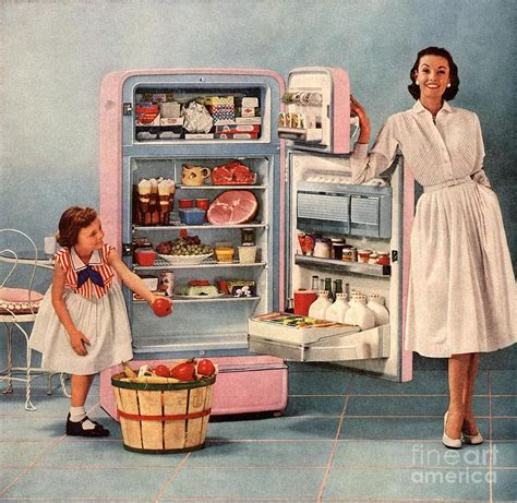 50s housewife 1950s usa fridges housewives housewife print by the