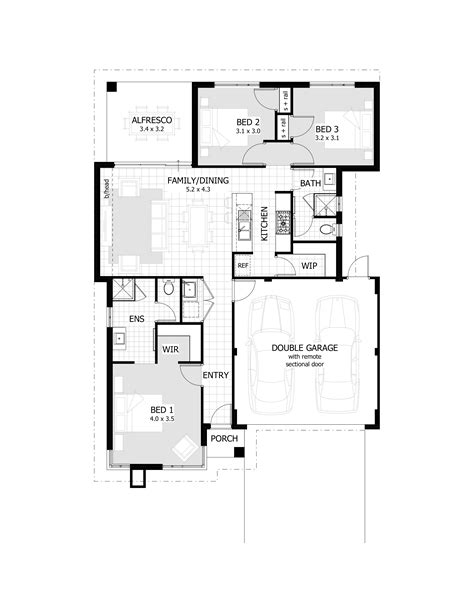 3 bedroom free house plans house of sles awesome 3