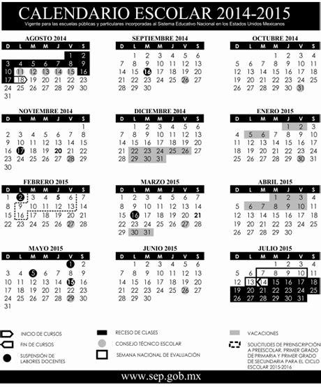 Calendario Escolar 2015 Sep Primaria Sep Publica Calendario Escolar Para El Ciclo 2014 2015