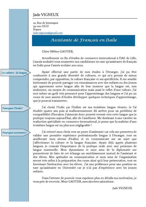 Exemple De Lettre Professionnelle En Francais Assistante De Fran 231 Ais 224 Pistoia Toscane Le Monde Du