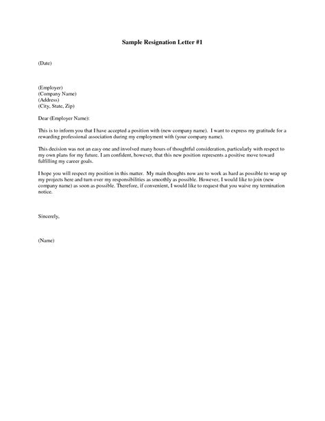 A Letter Of Resignation by Free Printable Letter Of Resignation Form Generic