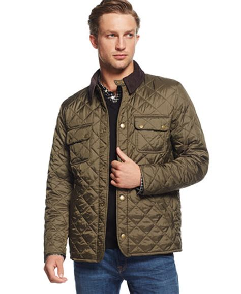 Jaket Bomber Aubis Brown Waterproof Bomber Jaket 1 barbour tinford quilted jacket coats jackets