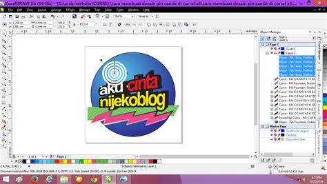cara membuat cantik blog cara membuat desain pin cantik di correl x6 nijekoblog