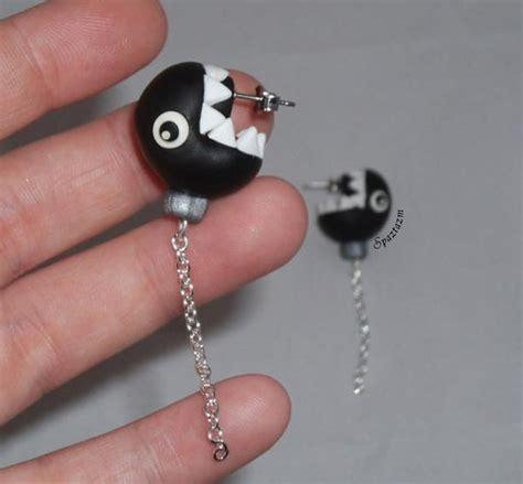 chain chomp earrings the original as seen on g4 aots mario bad