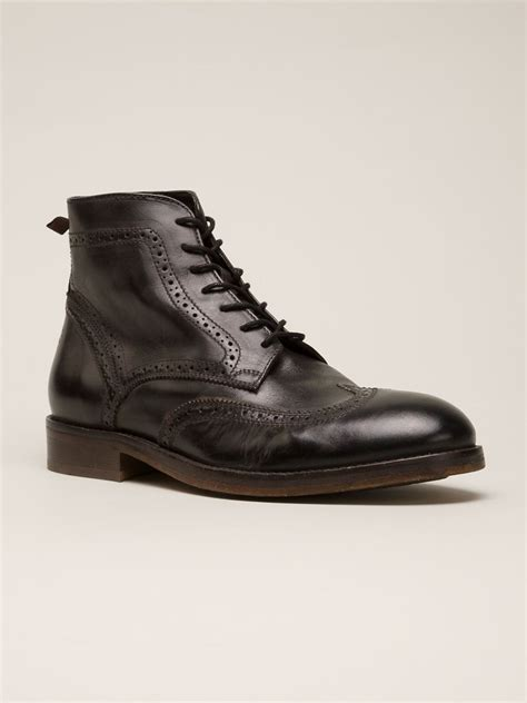 h by hudson boots h by hudson boots in black for lyst
