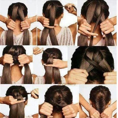 steps to show how to make fish tail favload easy fishtail braid tutorial hair pinterest