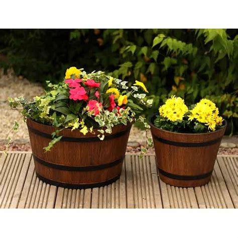 whiskey barrel planter ideas lt0708d botanico whiskey
