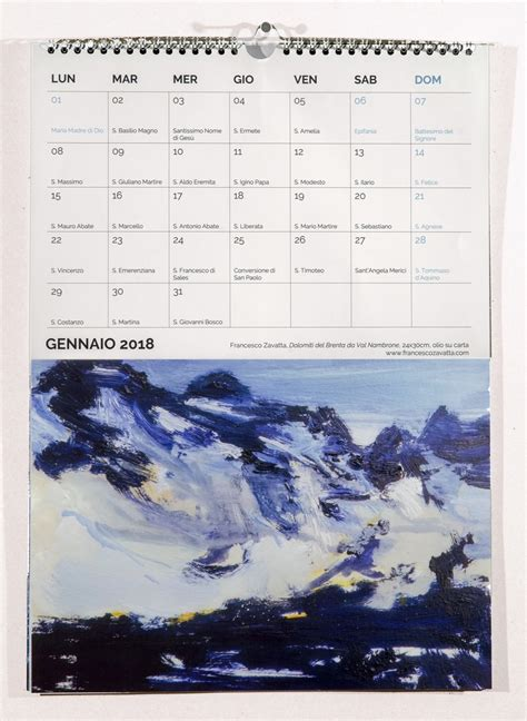 libreria jaca book rimini calendario 2018 francesco zavatta artista
