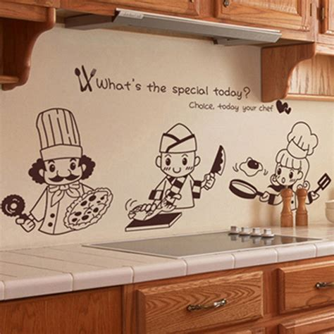 2pcs lot kawaii chef home decoration accessories kitchen kitchen cooking chef ᐂ wall wall sticker restaurant hotel