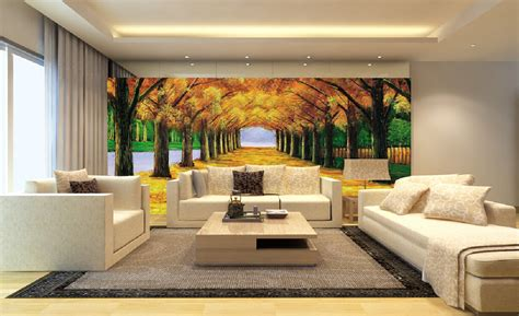 living room background 3d living room wall with boulevard background