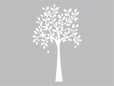 white tree wall sticker large whimsical tree wall decal weedecor