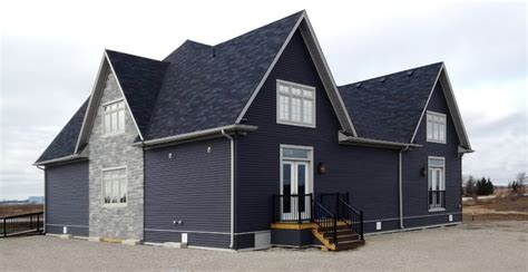 Grey And Blue Living Room Ideas Manor Vinyl Siding Modern Exterior Other By Kaycan