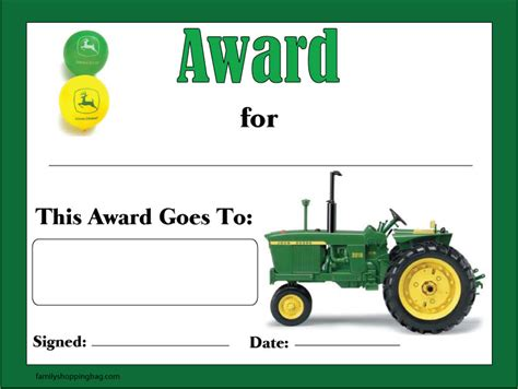 John Deere Award 214956 Jpg Free Deere Invitation Template