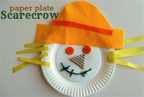 Paper Plate Fall Crafts - paper plate scarecrow craft