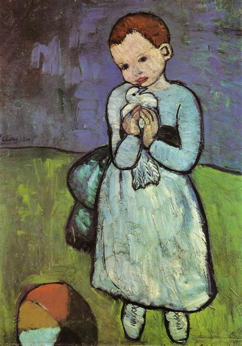 picasso paintings and child child holding a dove 1901 pablo picasso wallpaper image