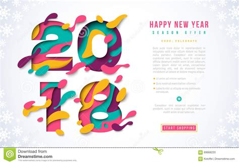 new year banner template 2018 happy new year banner template stock vector