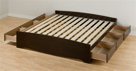 size platform bed frame with storage box springs vs platform beds us mattress