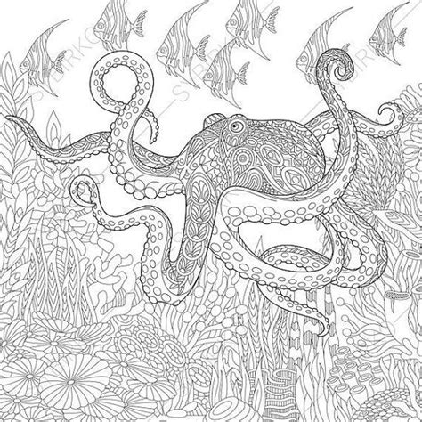 octopus coloring page adults 89 octopus coloring page adults luxury octopus