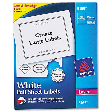 Avery 22806 Easy Peel Print To The Edge Permanent Adhesive Matte Square Labels With Trueblock Avery Oval Labels 22829 Template