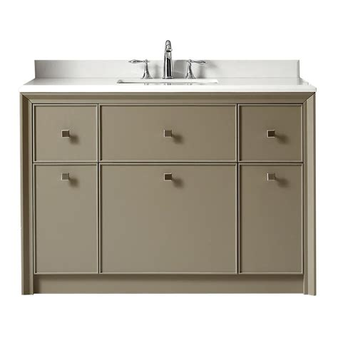 Home Depot Martha Stewart Vanity by Martha Stewart Living Parrish 48 In W X 22 In D Vanity In With Marble Top In Yves