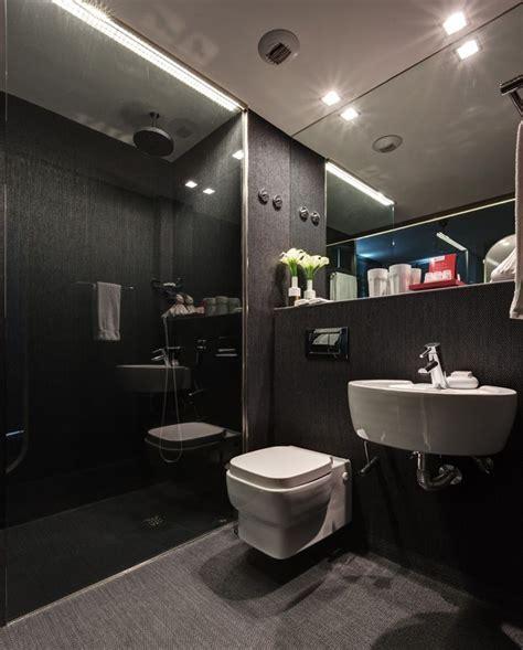 shower room  dark stylish colors bathroom design ideas