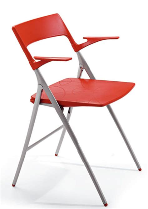 designer folding chair with arms plek reality