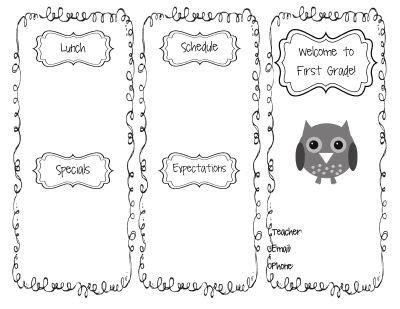 brochure template year 3 the go to teacher beginning of the year editable