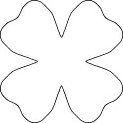 Petal Shape Outline by Clipart Flower 4 Petal Template Clipart Best Clipart Best