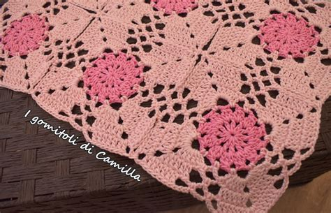 Piastrelle Di All Uncinetto - copertina a uncinetto con piastrelle traforate i tutorial