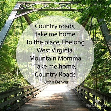 country roads take me home favorite places spaces