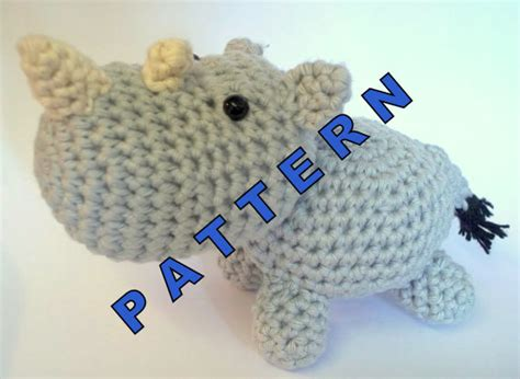 amigurumi rhino pattern amigurumi pattern rhino zoo animal crochet pattern by sixit
