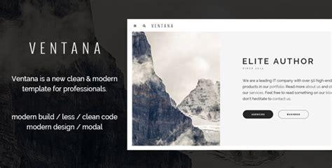 ventana responsive simple user interface html template