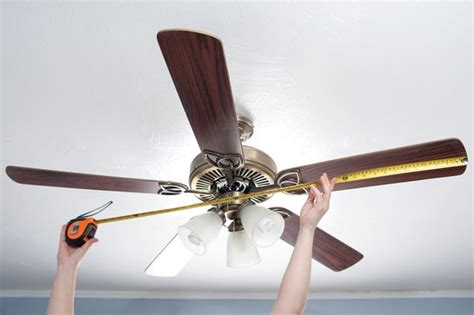 how to measure a ceiling fan how to measure ceiling fans hunker