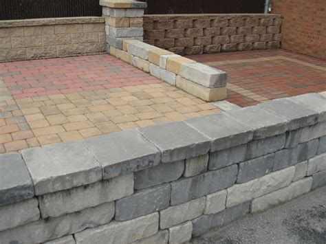 Patio Wall Blocks by Patio Wall And Paving Materials Steffey And Findlay Inc