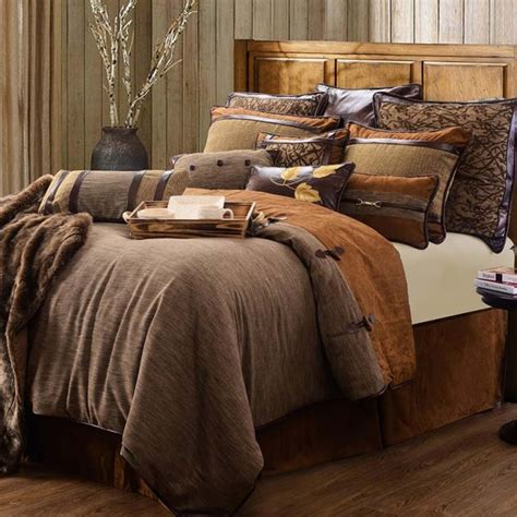 Rustic Bed Comforter Sets Highland Lodge Bedding Hiend Accents Rustic Bedding