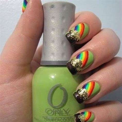 st pattern nails st patrick s nail designs nail polish designs pinterest