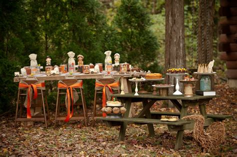 how to set up a backyard party rustic backyard kids thanksgiving party creative juice