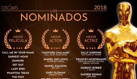 nominaciones oscar 2018 lista completa de los nominados a los premios lista de nominados de los premios oscar 2018 entretengo