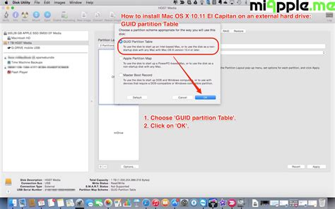 format external hard drive mac os x el capitan how to install mac os x 10 11 el capitan on an external