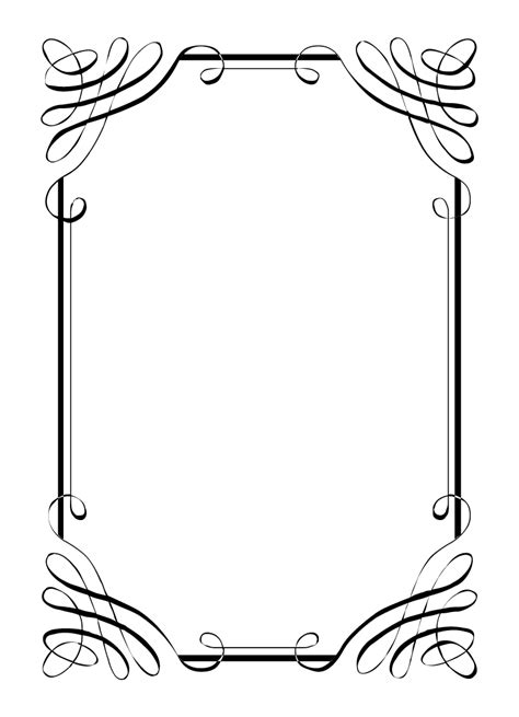 free printable picture frame templates free vintage clip images calligraphic frames and borders