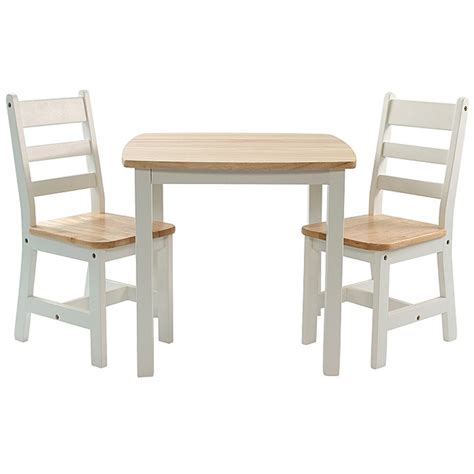 Home children s birch wooden table and chairs set brandon