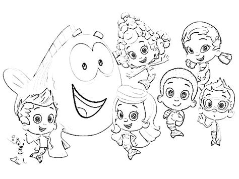 bubble kitty coloring page bubble guppies coloring pages coloring ploo fr