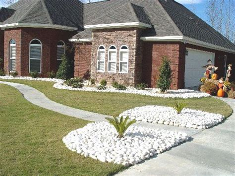 white landscaping rock landscaping