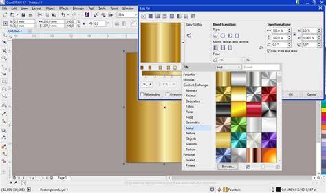 corel draw x7 gradient fill where are in coreldarw x7 fill preset like coreldaw 6