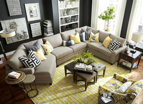 hgtv home design studio hgtv home design studio cu 2 left cuddler sectional by bassett furniture contemporary living