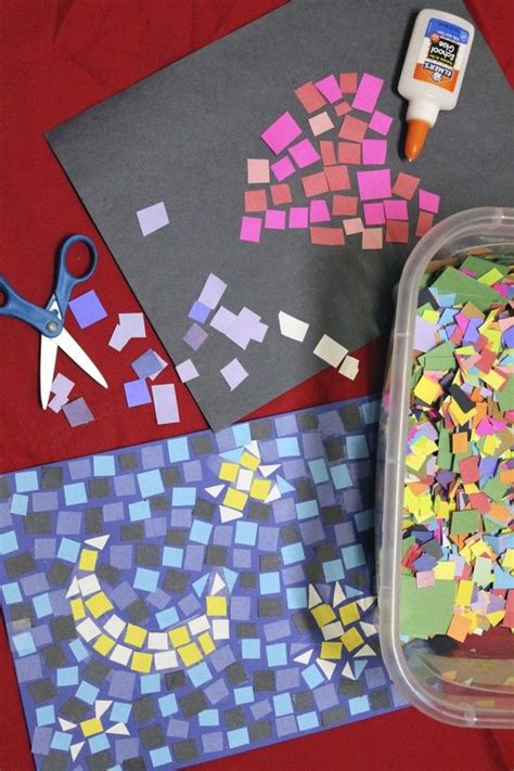 Toddler Crafts With Construction Paper - paper mosaics craft diy construction paper