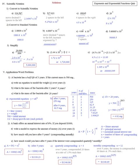 Exponential Growth And Decay Worksheet Algebra 2 Answers by Exponential Functions Word Problems Worksheet Pdf Math